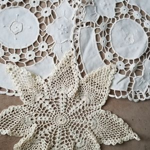 Other - Three crochet doilies in ivory thread